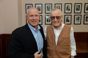 09-27-2016, Councimembers celebrate Stan Lee Day in Los Angeles City Hall. CM Curren Price Jr. and CM Mike Bonin recognize Stan Lee in John Ferraro Council Chamber pronouncing September 27, 2016, as Stan Lee Day.   Stan Lee  is an American comic-book writer, editor, publisher, media producer, television host, actor and former president and chairman of Marvel Comics. In collaboration with several artists, including Jack Kirby and Steve Ditko, he created Spider-Man, the Hulk, the Fantastic Four, Iron Man, Daredevil, Thor, the X-Men, and many other fictional characters, introducing a thoroughly shared universe into superhero comic books. He will be bringing Comic-Con to Los Angeles.  It will be known as the Stan Lee Los Angeles Comic Con.  L-R: Franco Viteri, Manny Giron