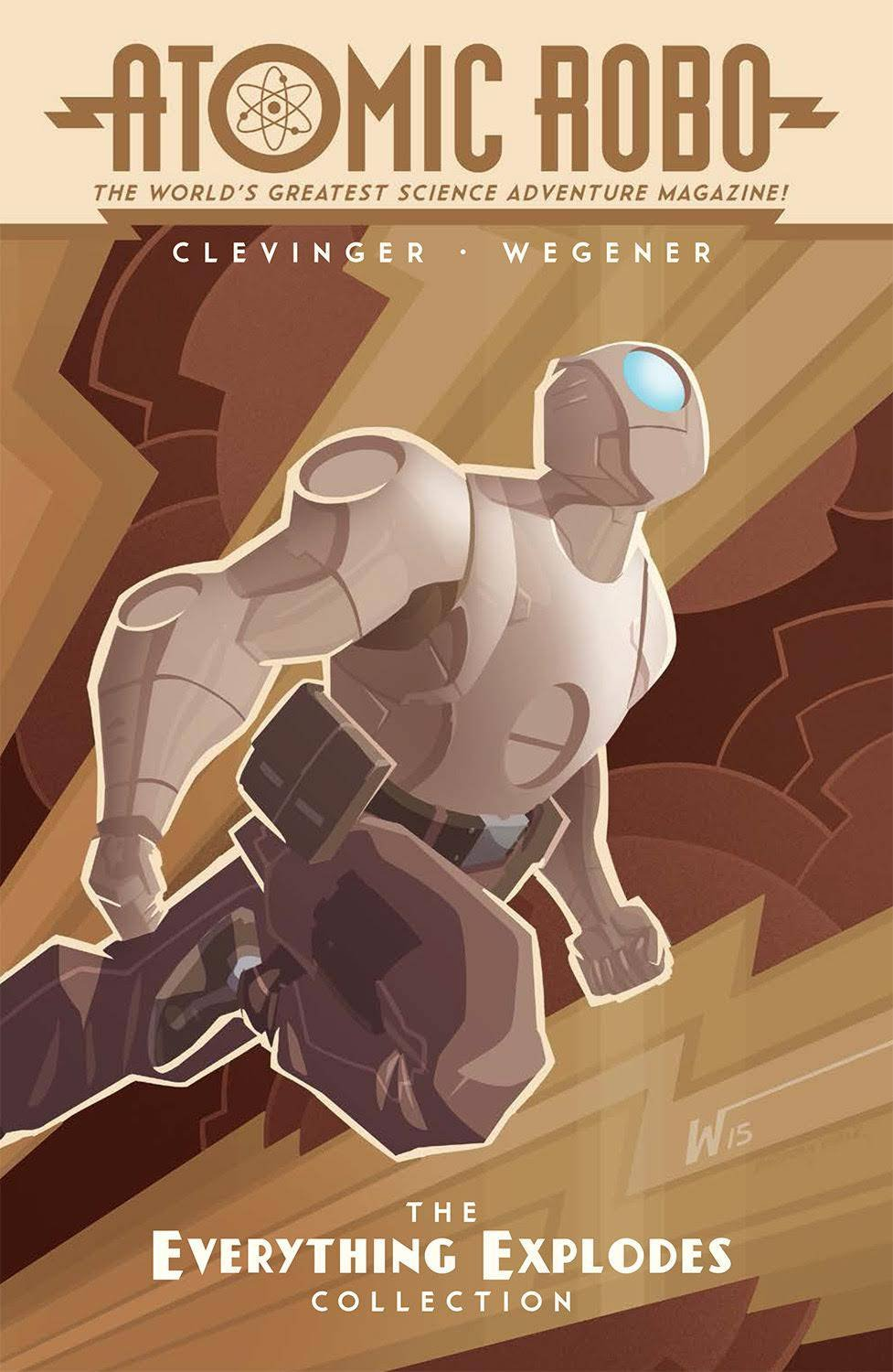 Atomic Robo, IDW Publishing, Red 5, Brian Clevinger, Scott Wegener, robot, Everything Explodes Collection, Action Scientists, Nikola Tesla, Tesladyne Industries, webcomic, trade paperback