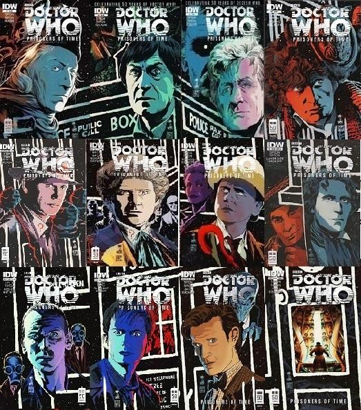 Doctor Who, IDW Publishing, BBC, Matt Smith, Tom Baker, Leela, Tardis, Star Trek,