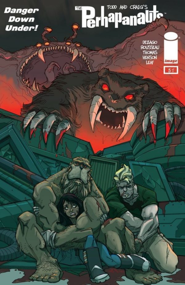 Todd Dezago, The Perhapanauts, Danger Down Under, Image  Comics, Craig Rousseau, Bigfoot