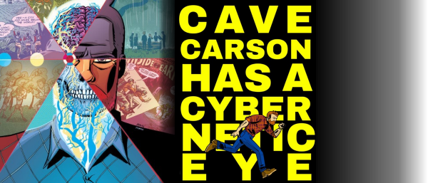 Cave Carson has a Cybernetic Eye Logo