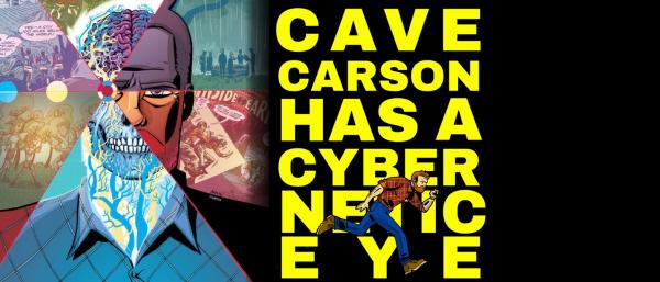 Cave Carson has a Cybernetic Eye Logo