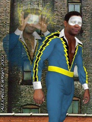 Denzel Washington as Black Lightning by Alex Wright