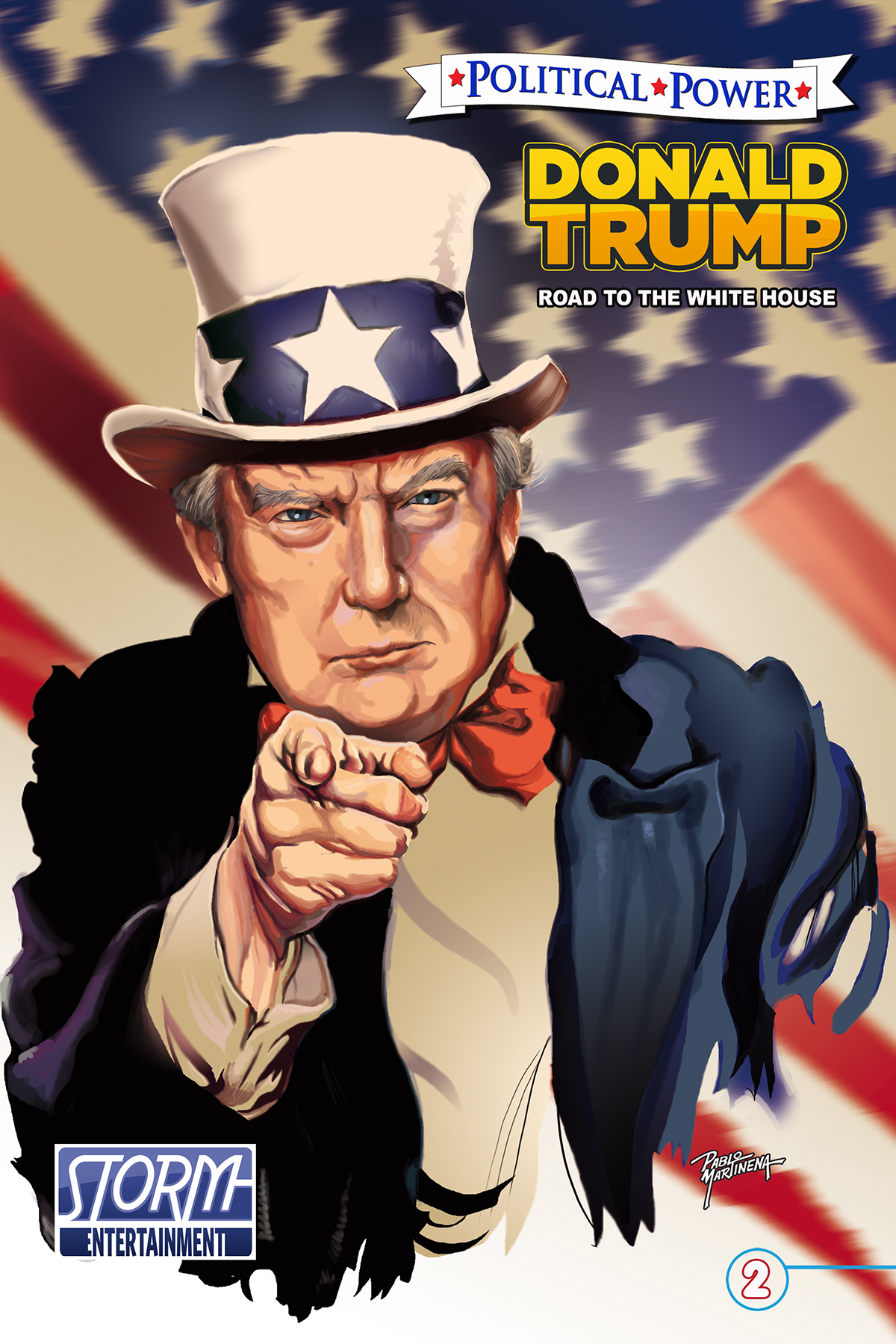 Donald trump s political journey gets the comic book for Donald trump favorite books