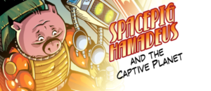 Spacepig Hamadeus and the Captive Planet Logo