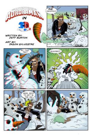 Auroraman #1 3D Page