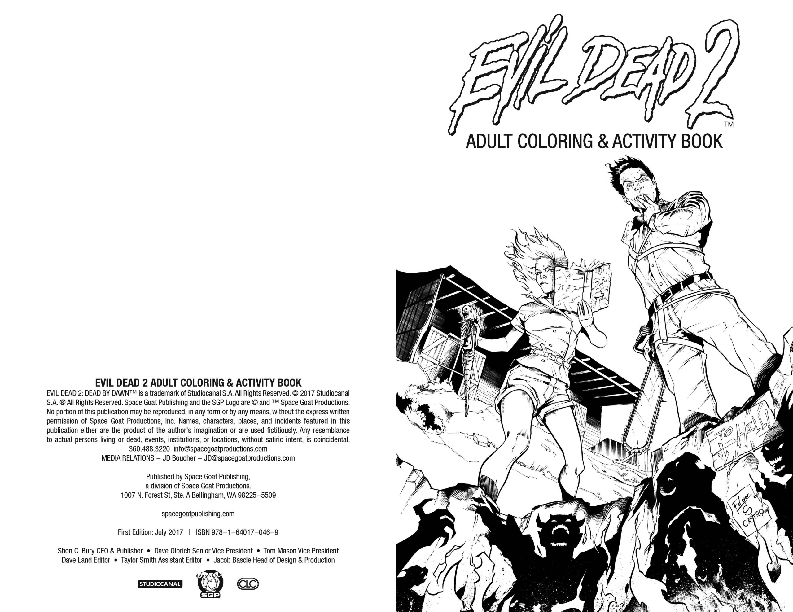 Evil Dead 2 Adult Coloring Activity Book Preview First