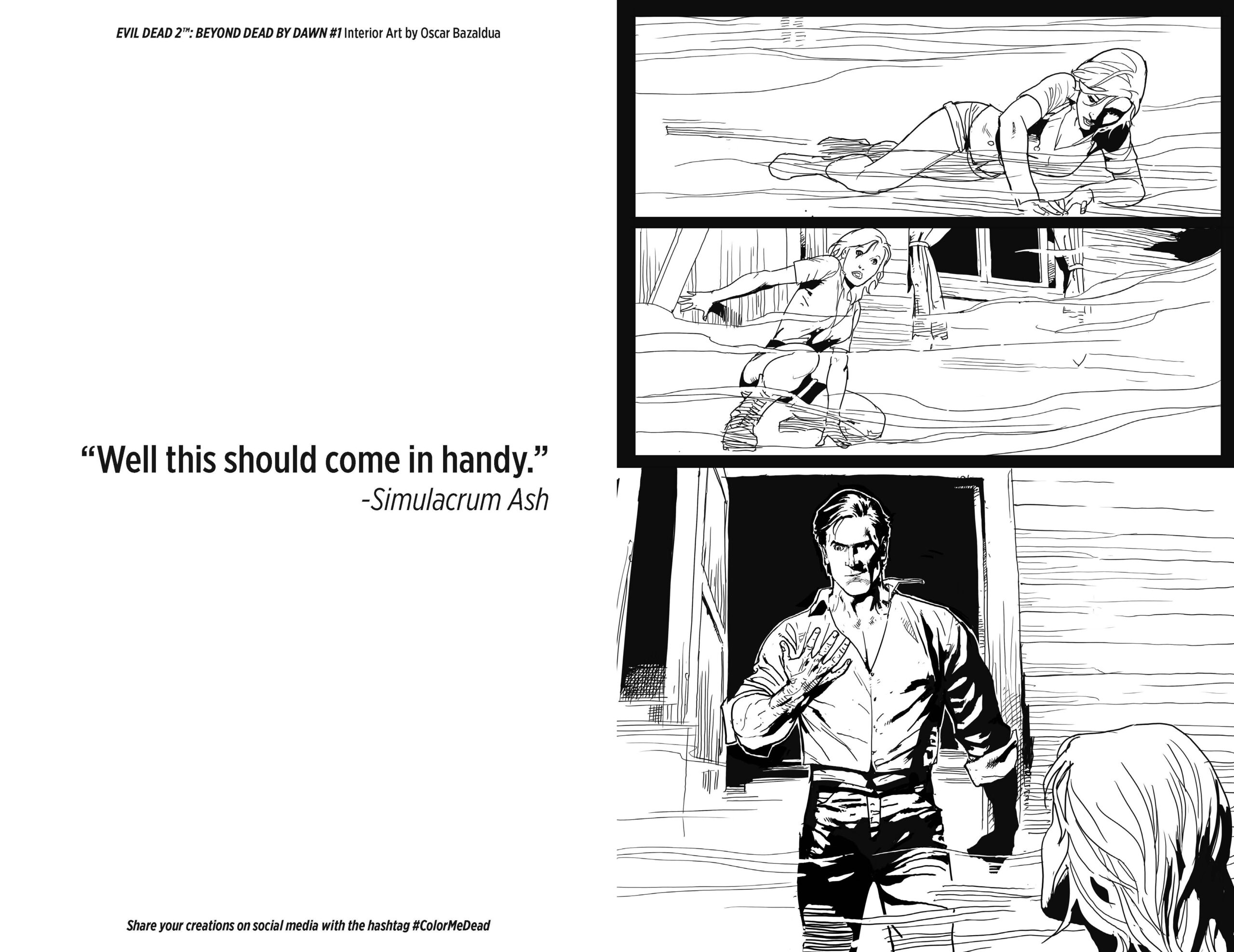 EVIL DEAD 2 ADULT COLORING ACTIVITY BOOK preview – First Comics News
