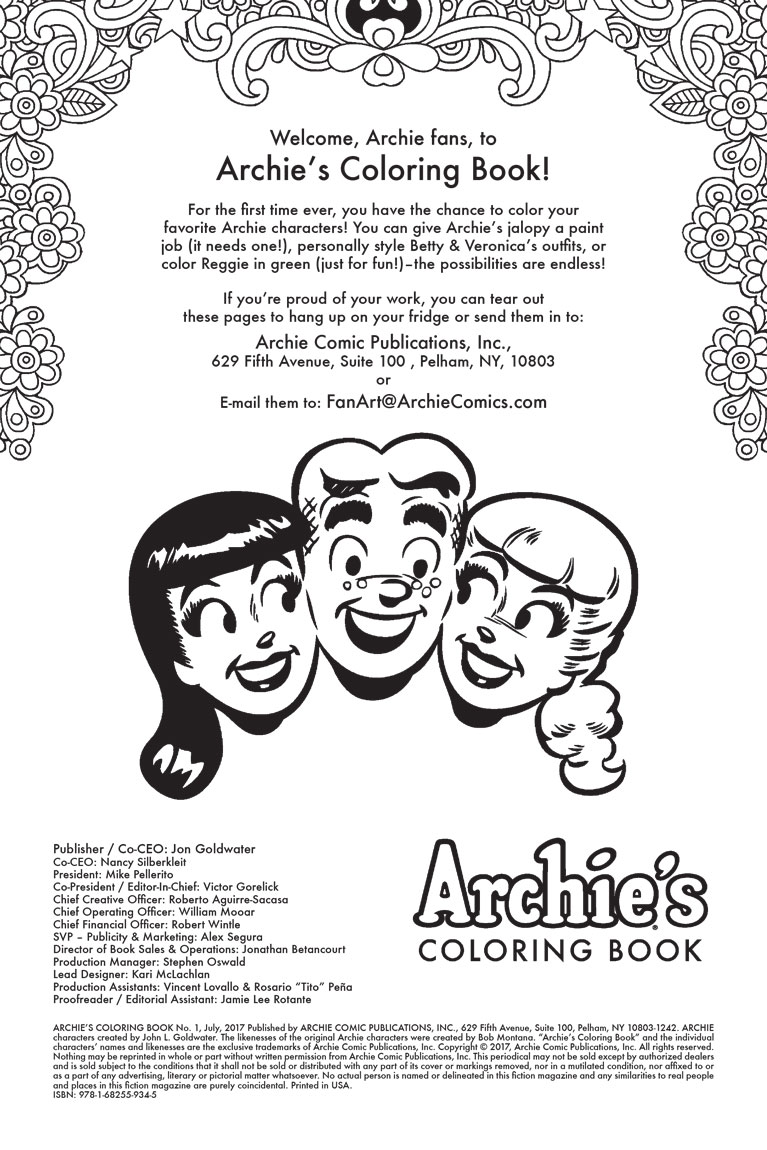 Get Creative With Archie And His Pals N Gals Now You Have The Chance To Color All Of Your Favorite Characters Can Give Archies Jalopy A