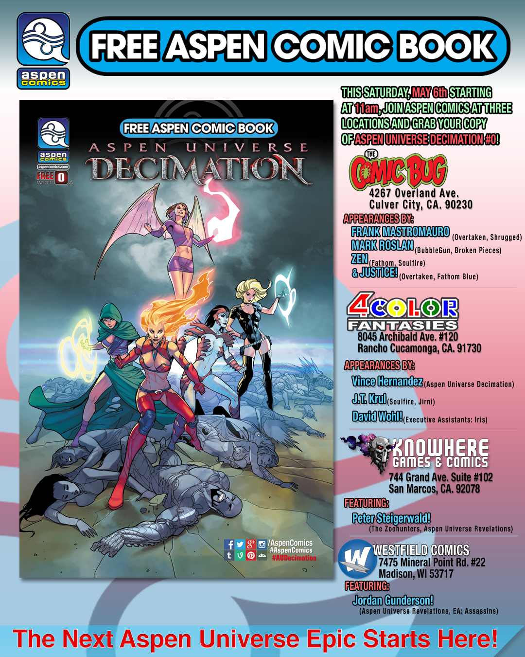 ASPEN UNIVERSE: DECIMATION BEGINS THIS FREE COMIC BOOK DAY
