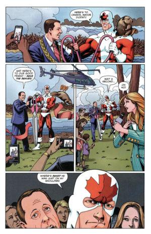 Captain Canuck in Niagara Falls 150 Interior Page