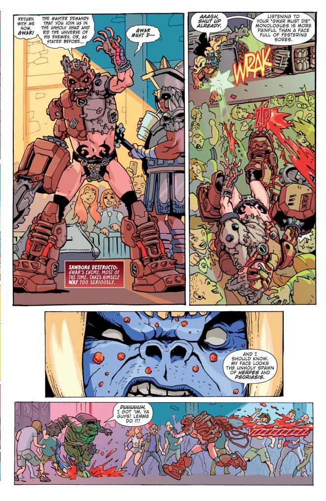 Gwar 1 preview First Comics