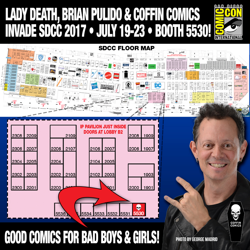 Free Comic Book Day San Diego: LADY DEATH WILL BE INVADING SAN DIEGO NEXT WEEK FOR SDCC