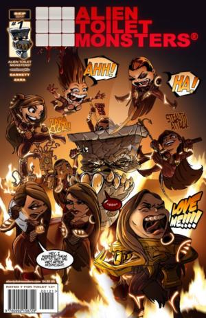 Alien Toilet Monsters #1 FanExpo Cover