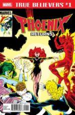 Marvel, Phoenix, Jean Grey, X-Men, $1.00, Rocket Raccoon, quarter box, local comics shop, True Believers