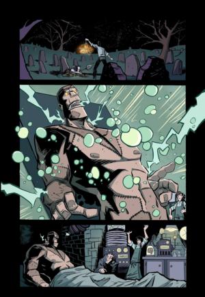 Frankenstein #1 Interior Page