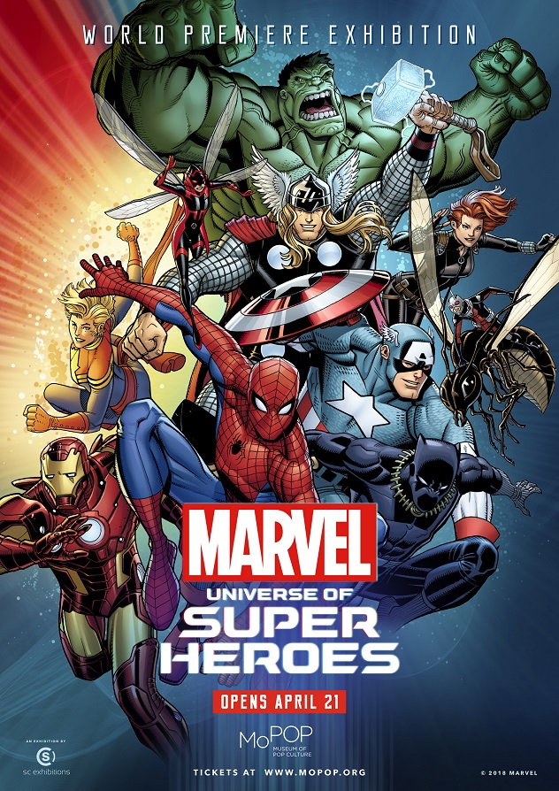 Marvel Malvorlagen Marvel Superhero The Marvel Super: MoPOP UNVEILS OFFICIAL POSTER ART FOR MARVEL: UNIVERSE OF