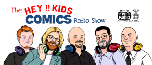 The Hey Kids Comics Radio Show Logo