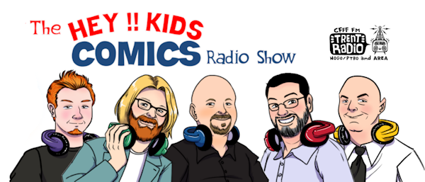 The Hey Kids Comics Radio Show Logo