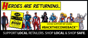 Diamond, Alliance Launch Charity Auction to Support Comic Book and Game Stores as Part of 'Back The Comeback' Campaign